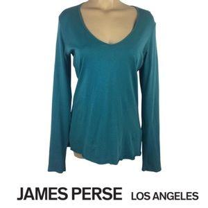 James Perse Blue Long Sleeve Tee Shirt L